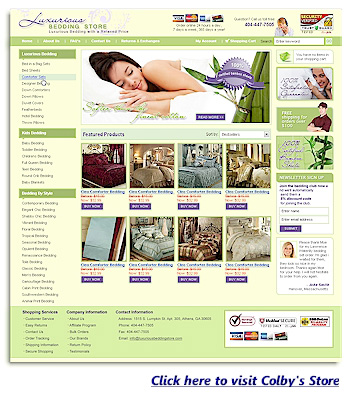 Colby's Luxurious Bedding Online Store