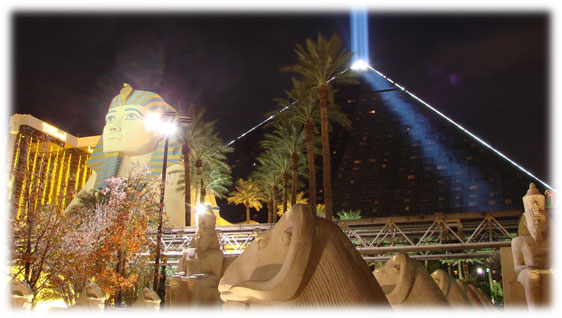 Image of modern sphinx at Luxor in Las Vegas